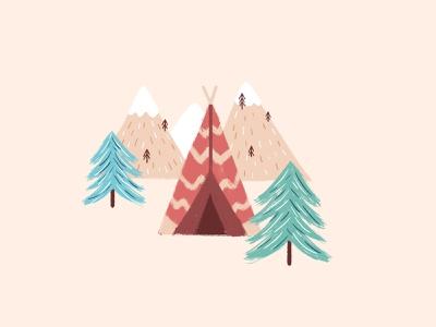 Camp camping tipi mountains trees tent camp