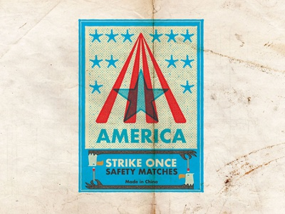AMERICA STRIKE ONCE | SAFETY MATCHES
