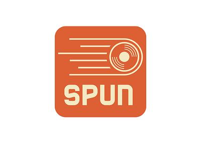 spun disc golf concept 1980s retro vintage typography icon logos concept logo design branding illustration graphic design