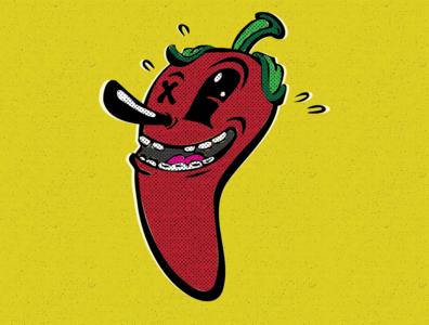 Pepper @bendindustries sauce hot pepper package design character design artwork concept logo design illustration branding graphic design