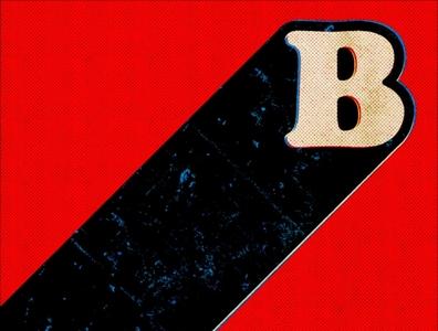 Just B retro vintage artwork logos typography vector design logo concept illustration graphic design