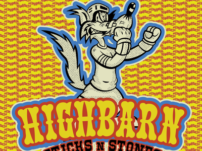 HighBarn Branding highbarn bendindustries @bendindustries @highbarnhockey wolf comics cartoon package design concept typography character character design artwork design illustration branding graphic design