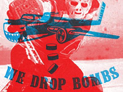 We Drop Bombs @highbarnhockey concept hockey package design character design artwork logo design illustration branding graphic design