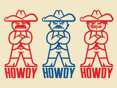 Cowboys character character design cartoon texas western cowboys artwork concept logo design illustration branding graphic design