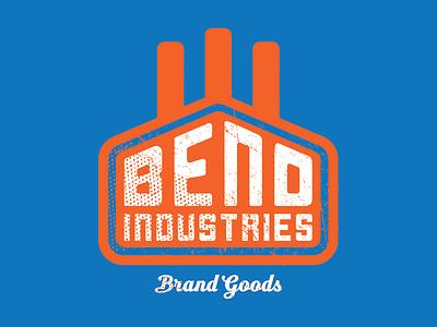 Bend Industries   Logos + Trademarks apparel clothing branding bend factory industrial logo