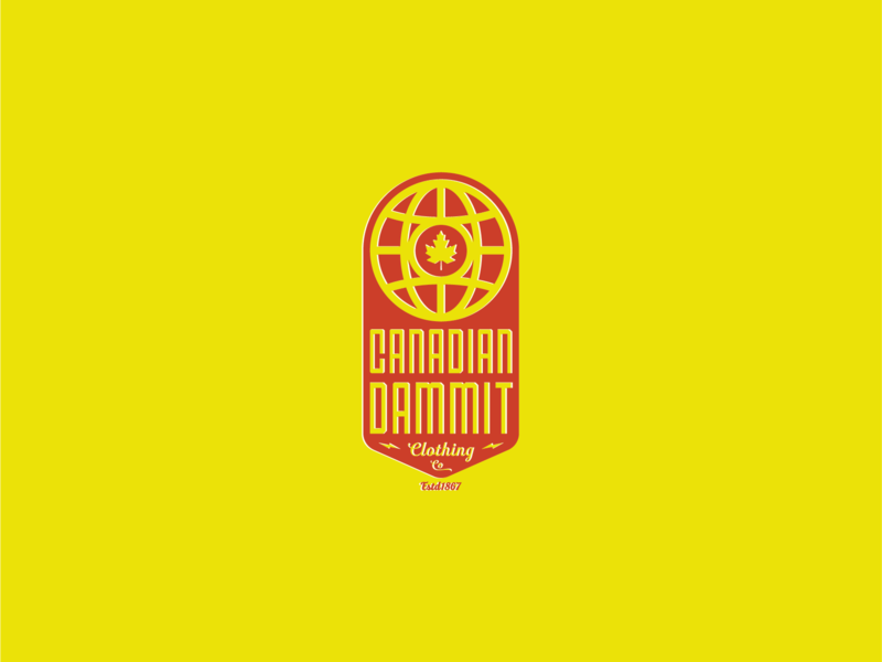Bend Industries | Canadian Dammit hockey icon apparel logo artwork vector concept design logos branding illustration graphic design logo