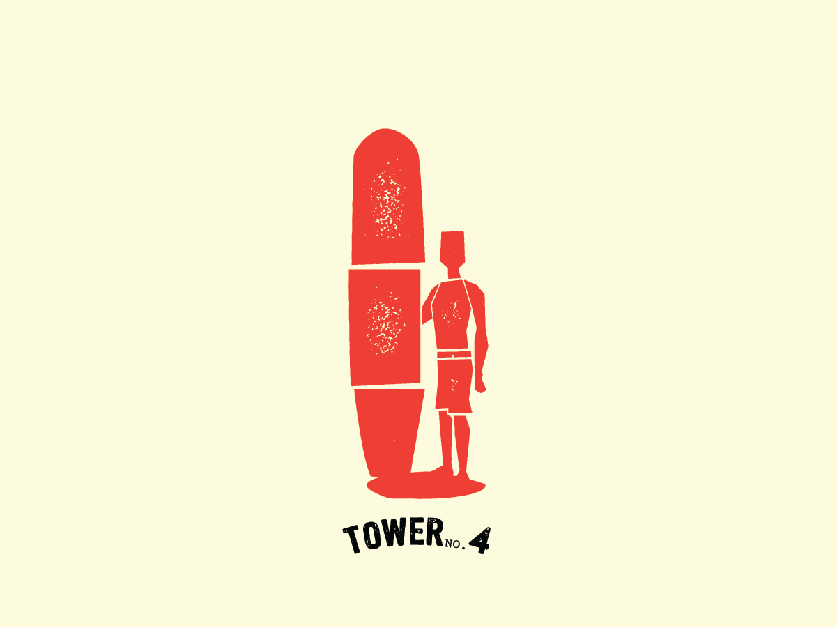 Bend Industries   Tower No.4 water ocean surf icon character design character package design vector artwork concept design branding logo illustration graphic design