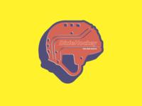 Dixie Hockey Logo   Cooper Helmet