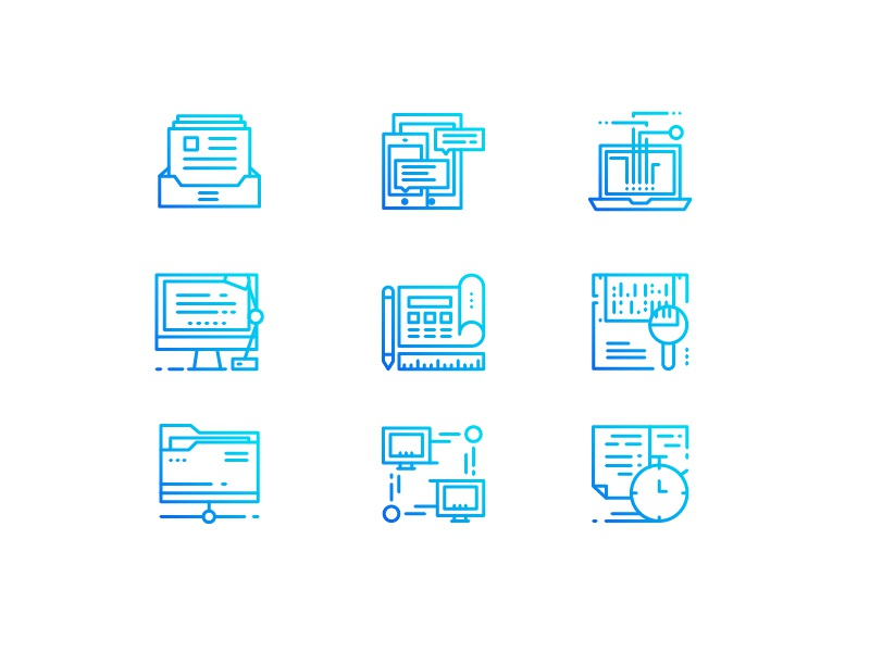 Office icons icons work scene office