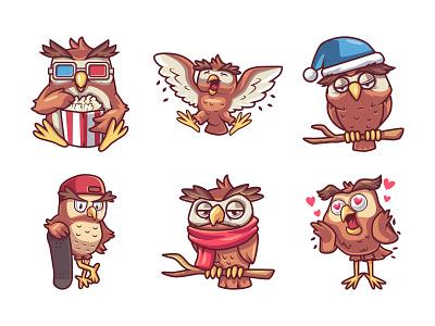 Owl Illustration🦉 animal love cool cartoon vector illustration owl