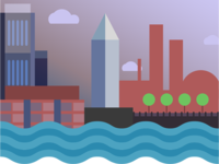 city on river