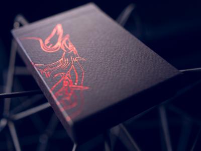 Hannya V2 Playing Cards packaging label branding packagingdesign elegant modern minimalist playingcard monoline illustration