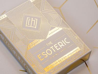 The Esoteric Playing Cards typography minimalist branding vintage playingcard packagingdesign packaging modern illustration elegant