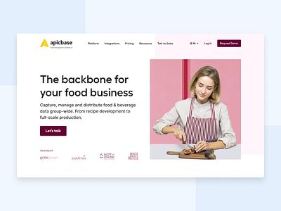 Restaurant management software landing page menu header restaurant landing page web design logo landing web new design ux ui