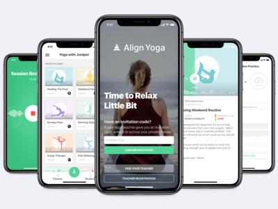 Yoga App Design