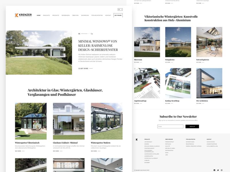 Web Design for Architecture Company uidesign ux ui design menu landing page landing homepage home page home web design web ui desgin ux ui