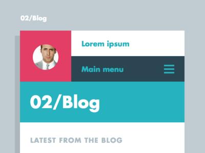 Blog template / smartphone
