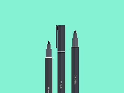 Permanent Marker flat icon illustration drawing pen marker permanent