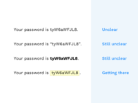 How to display passwords clearly