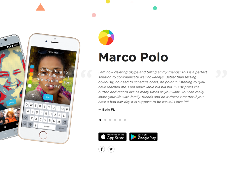 Marco Polo android ios communication joya walkie talkie video messaging app marco polo