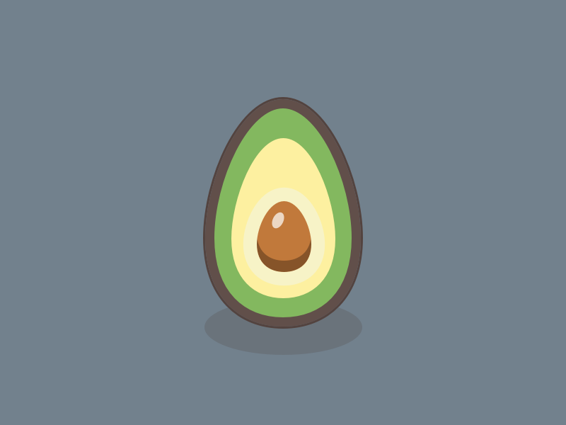 Avocado snack green healthy food fruit illustration avocado