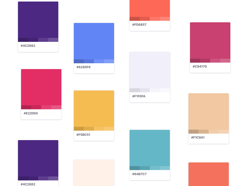Color Exploration color tint shade brand hex palette scheme colors