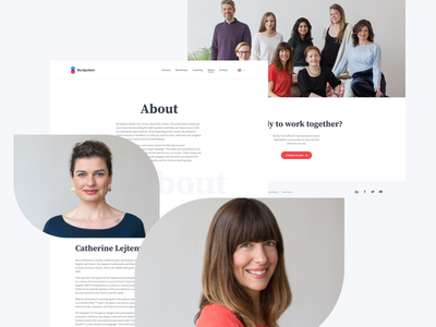 Be:Spoken About Page rwd responsive biography bio website team about learning language