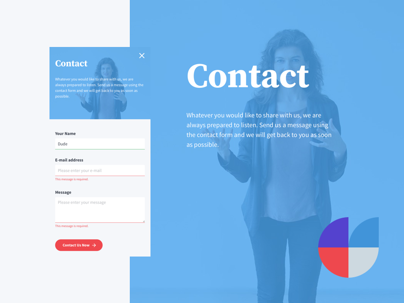 Be:Spoken Contact Page rwd responsive microcopy error input label form contact learning language