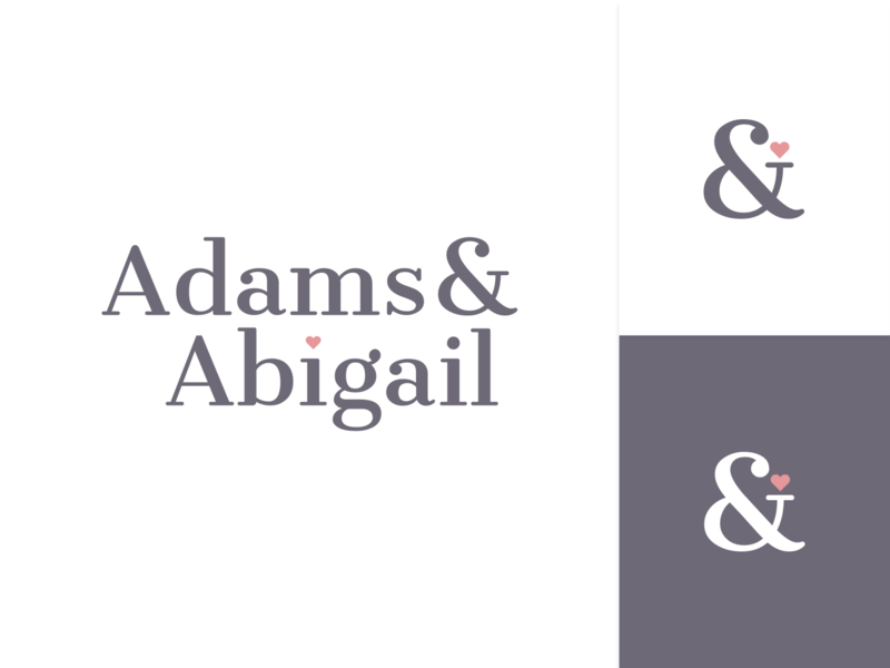 Adams & Abigail - Logo design branding fashion pink purple logo design wordmark daily logo challenge logotype logo