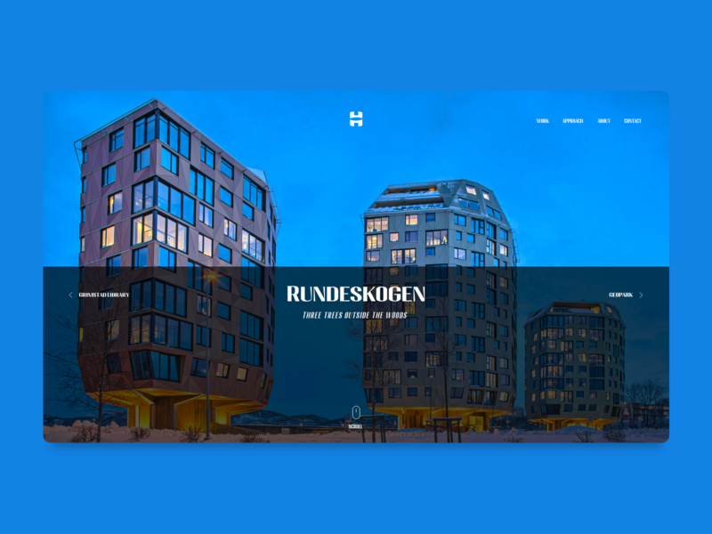 Helen & Hard Landing Page norway architecture design ui