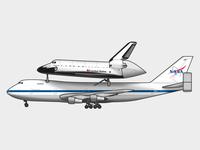 NASA Shuttle Carrier & Space Shuttle Endeavour