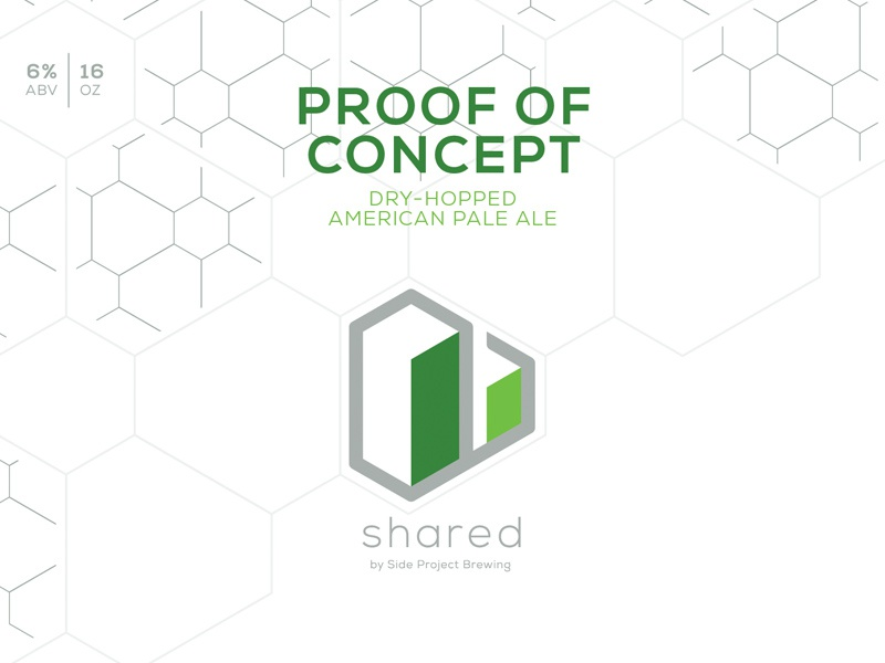 Shared Proof of Concept Label can label craft beer isometric geometric beer