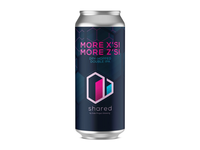 Shared More X's! More Z's! Can isometric geometric branding label craft can beer