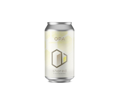 Shared Opa Can design craft beer can geometric isometric branding beer label
