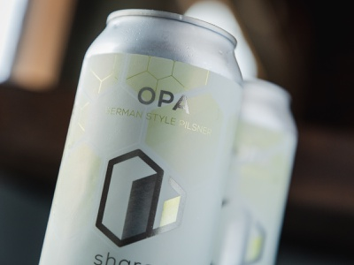 Shared Opa photography branding logo can beer craft beer