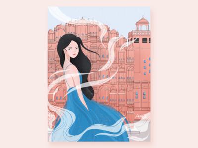 Jaipur India - the palace of wind