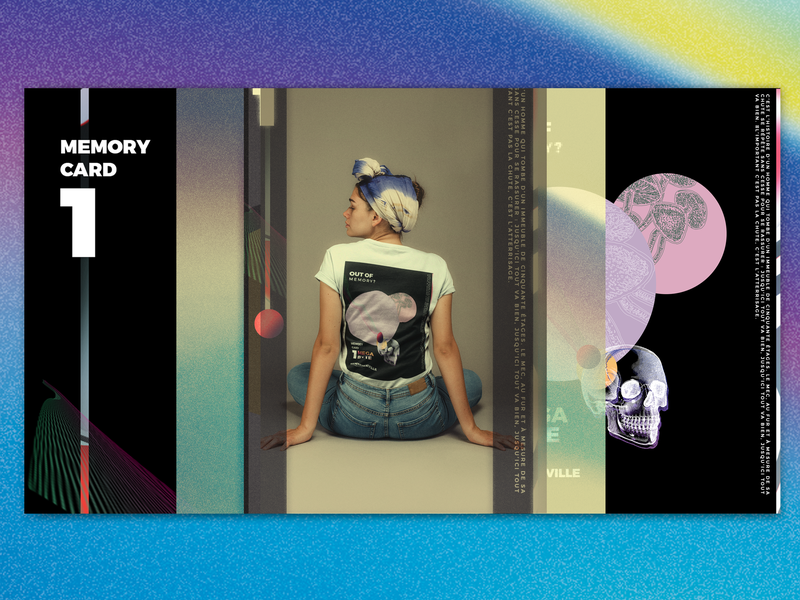 Sentenceville Memory Card Tee digital film 80s style vintage 80s 90s vhs art pastel fashion ui dailyui design