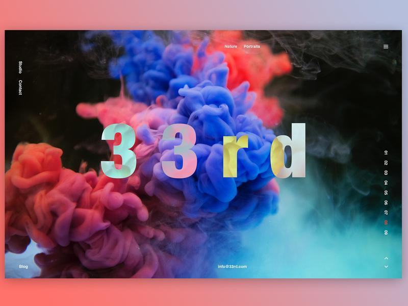 33rd Digital landing page photoshop hero slider squeeze splashpage banner graphic  design screen interface ui art typography design concept