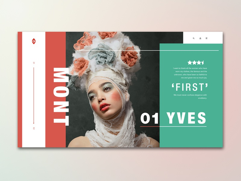 Yves UI Gallery Concept concept landing page screen graphic design rebound web design web ux ui typography photography model minimal lookbook layout grid fashion design clean adobe photoshop