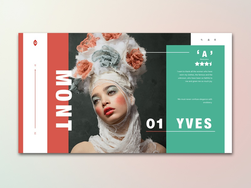Yves Gallery Dropdown UI concept adobe xd photoshop ux photography website digital web design hero graphic  design landing page banner screen interface graphic design art concept typography design fashion ui