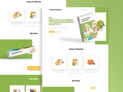 Snackbox Landing Page - PSD illustration typography landing page graphic design interface ui concept