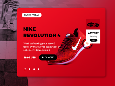Nike- Black Friday Sale Product Concept web design screen graphic design red design nashville interaction interface black friday ecommerce shop card ui concept