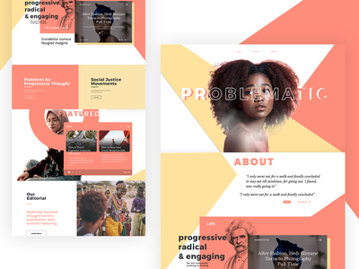 Modern Progressive Landing pastel hero graphic  design digital typography interface ui nashville web design design warm colors modular design color block concept landing page