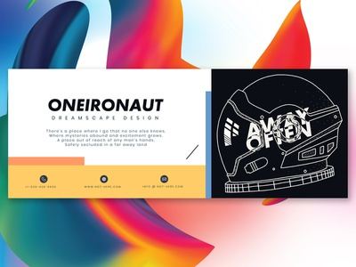 Oneironaut Business Card illustrator nashville branding typography concept design business card