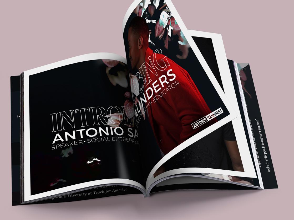 Magazine Style Media Kit atlanta nashville graphic design typogaphy print design branding media kit print