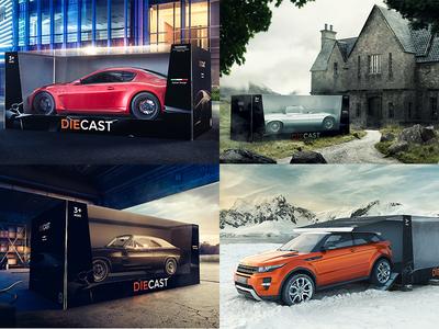 Die Cast campaign advertising diecast 3d cgi retouch cars