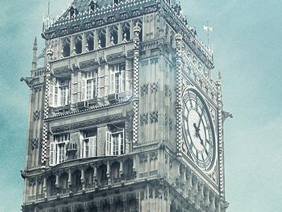 London View retouch photo manipulation manipulation bigben london