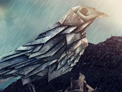 Metal Bird retouch manipulation nature metal illustration bird
