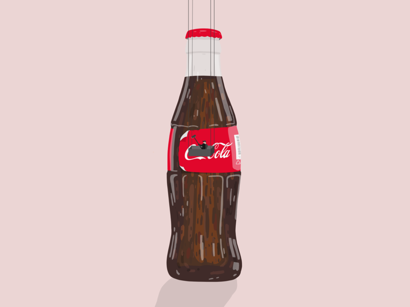 Coca Cola production - illustration by Samy Löwe design art ipad creative digitaldrawing colors vector art painted drawing illustrator illustration design
