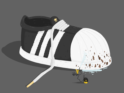 Adidas Originals Advertisement - 2019 by Samy Löwe painted vector ipad adobe sketch adobe draw illustrator illustration art illustration digitaldrawing design creative colors art